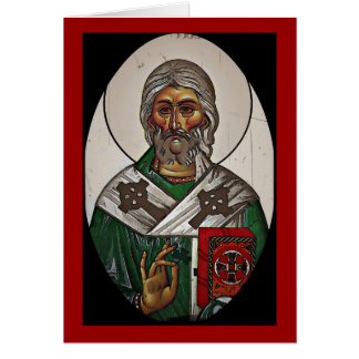 Saint Patrick with Holy Scripture Card