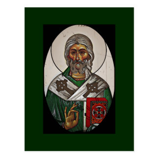 Saint Patrick with Holy Scripture Postcard