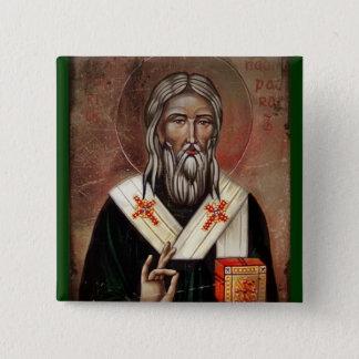 Saint Patrick with Raised Hand Pinback Button