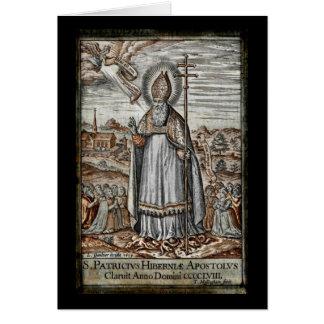 Saint Patrick with Snakes at His Feet Card