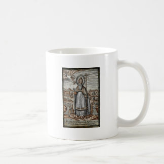 Saint Patrick with Snakes at His Feet Classic White Coffee Mug