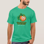 Hand shaped Saint Patricks A Good Day to be Irish t-shirt