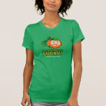 Hand shaped Saint Patricks Are You feeling Lucky t-shirt