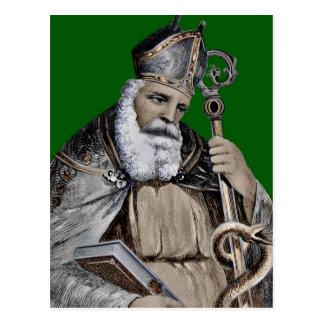 Saint Patrick's Bible and Staff Postcard