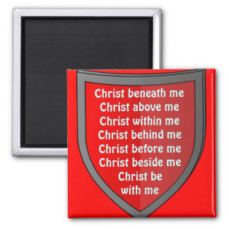 Saint Patrick's breastplate prayer magnet