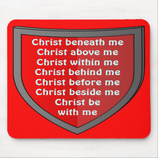 Saint Patrick's breastplate prayer mousepad