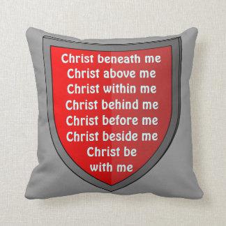 Saint Patrick's breastplate prayer pillow