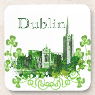 Saint Patrick's Cathedral in Dublin Drink Coaster