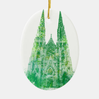 Saint Patrick's Cathedral New York Ceramic Ornament