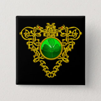SAINT PATRICK'S CELTIC HEART BUTTON