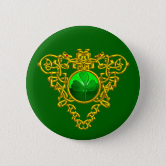 SAINT PATRICK'S CELTIC HEART PINBACK BUTTON