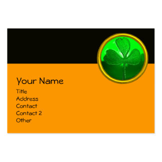 SAINT PATRICK'S CELTIC HEART,SHAMROCK,black orange Large Business Cards (Pack Of 100)