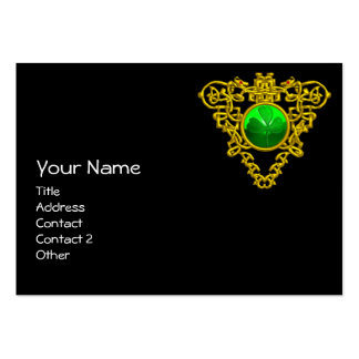 SAINT PATRICK'S CELTIC HEART,SHAMROCK, black white Large Business Card