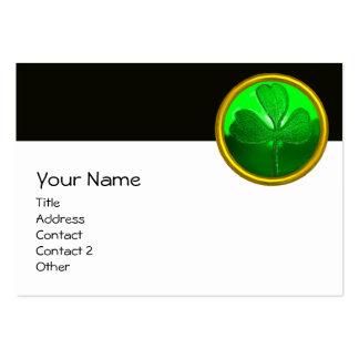 SAINT PATRICK'S CELTIC HEART,SHAMROCK, black white Large Business Cards (Pack Of 100)