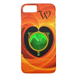 SAINT PATRICK'S CELTIC HEART,SHAMROCK MONOGRAM iPhone 7 CASE
