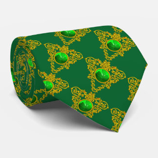 SAINT PATRICK'S CELTIC HEART WITH GREEN SHAMROCK NECK TIE