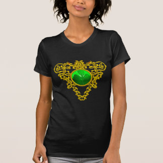 SAINT PATRICK'S CELTIC HEART WITH GREEN SHAMROCK T-Shirt