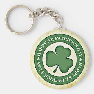 Saint Patrick's Day Basic Round Button Keychain