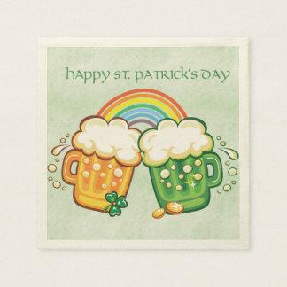 Saint Patrick's Day, Beer Mugs Standard Cocktail Napkin
