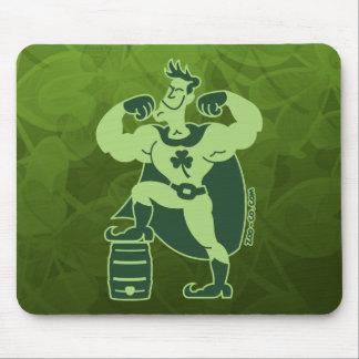 Saint Patrick's Day Beer Powered Superhero Mouse Pad