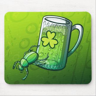 Saint Patrick's Day Beetle Mouse Pad