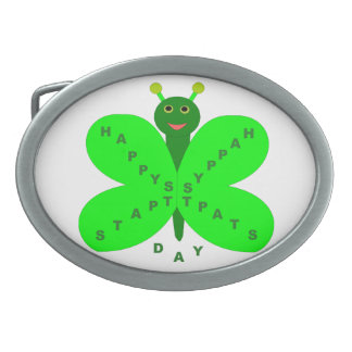 Saint Patricks Day Butterfly Belt Buckle
