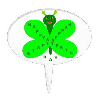 Saint Patricks Day Butterfly Cake Pick