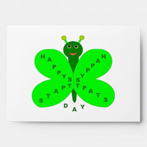 Saint Patrick's Day Butterfly Custom Envelope