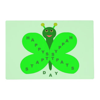 Saint Patrick's Day Butterfly Custom Placemat