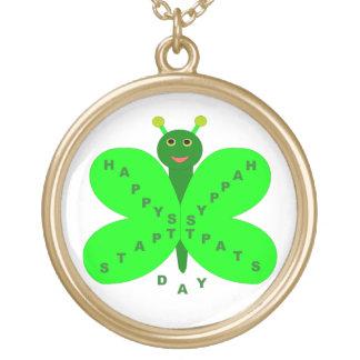 Saint Patricks Day Butterfly Necklace