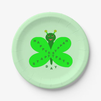 Saint Patrick's Day Butterfly Paper Party Plates