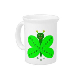 Saint Patricks Day Butterfly Pitcher