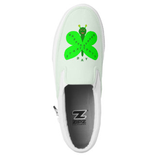 Saint Patricks Day Butterfly Slip On Shoes Printed Shoes