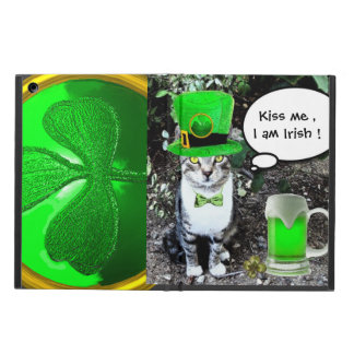 SAINT PATRICK'S DAY CAT WITH GREEN IRISH BEER iPad AIR CASE