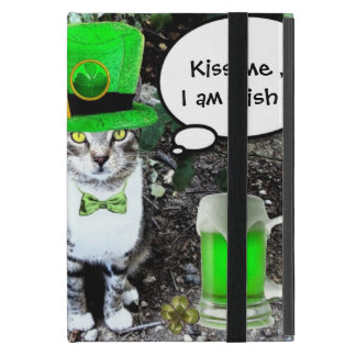SAINT PATRICK'S DAY CAT WITH GREEN IRISH BEER iPad MINI CASE