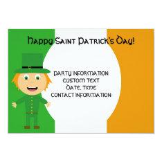 Saint Patrick's Day Celebration Card at Zazzle