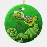Saint Patrick's Day Chameleon Ornaments