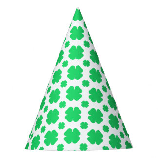Saint Patrick's Day Clover Patterned Party Hat