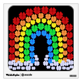 Saint Patrick's Day Clover Rainbow Wall Graphics