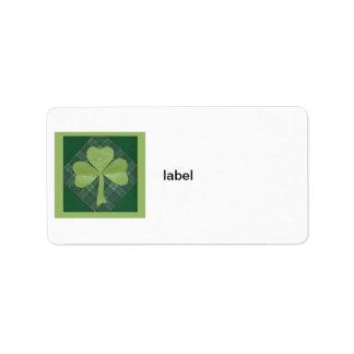 Saint Patrick's Day collage # 2 Label