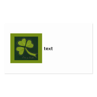 Saint Patrick's Day collage series # 11 Business Card