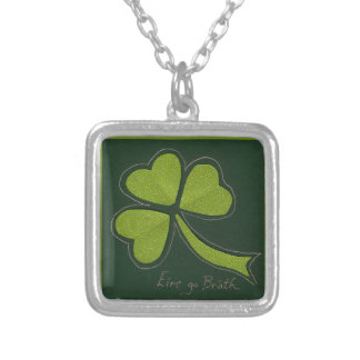 Saint Patrick's Day collage series # 11 Custom Necklace