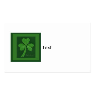 Saint Patrick's Day collage series # 13 Business Card