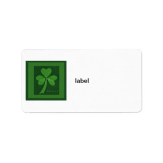 Saint Patrick's Day collage series # 13 Label
