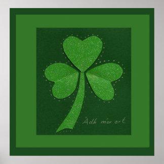 Saint Patrick's Day collage series # 13 Print