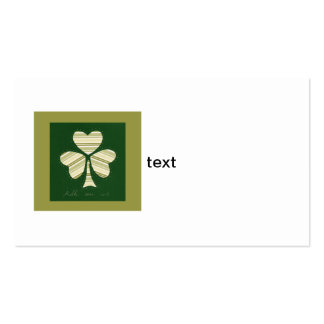 Saint Patrick's day collage series # 14 Business Card Template