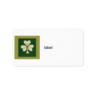 Saint Patrick's day collage series # 14 Label