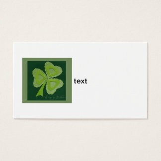 Saint Patrick's day collage series # 16 Business Card