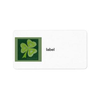 Saint Patrick's day collage series # 16 Label