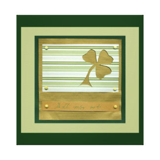Saint Patrick's Day collage series # 1 Gallery Wrapped Canvas